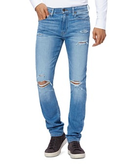 PAIGE - Lennox Slim Fit Jeans in Mullen Destructed