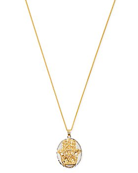 "Bloomingdale's - Hamsa Pendant Necklace in 14K Yellow & White Gold, 20"" - 100% Exclusive"