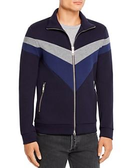 Antony Morato - Turtle Color-Block Fleece Zip-Front Sweatshirt