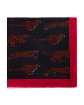 Paul Smith - Running Cheetah Pattern Pocket Square