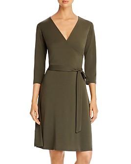 Leota - Perfect Wrap Three-Quarter Sleeve Dress