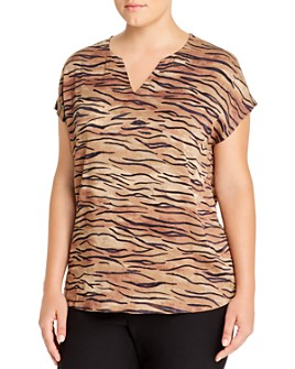 NIC and ZOE Plus - Tiger-Stripe Tee