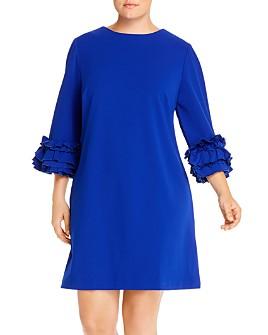 Maree Pour Toi Plus - Ruffle-Cuff Shift Dress