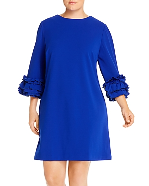 Maree Pour Toi Plus Ruffle-Cuff Shift Dress