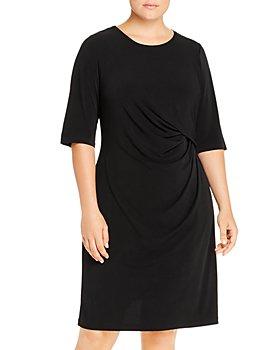 NIC and ZOE Plus - Fundamental Drape-Front Dress