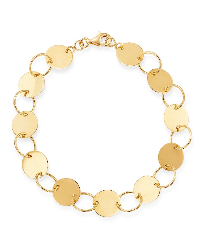 Moon & Meadow - 14K Yellow Gold Circle Station Bracelet - 100% Exclusive