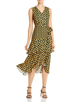 Sam Edelman - Poppy-Print Tiered Midi Dress