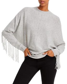 Minnie Rose - Fringed Cashmere Sweater