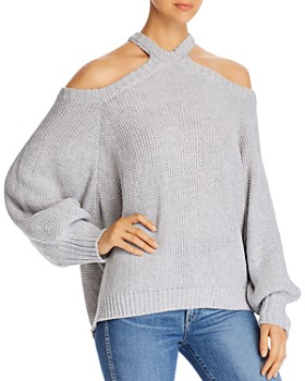 Elan - Cold-Shoulder Sweater