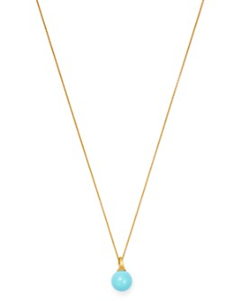 """Marco Bicego - 18K Yellow Gold Africa Turquoise Pendant Necklace, 16.75"""""""