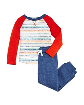 Splendid - Boys' Striped Raglan Tee & Jogger Pants Set - Little Kid