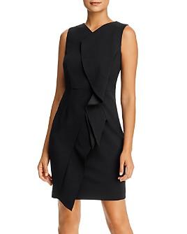 Calvin Klein - Sleeveless Ruffled Sheath Dress