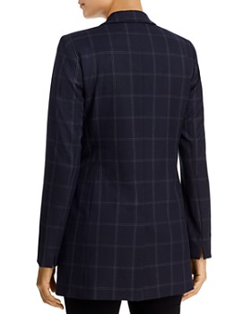 Donna Karan - Windowpane Check Blazer