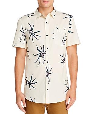 Zee Gee Why Denim Party Short-Sleeve Floral-Print Slim Fit Shirt