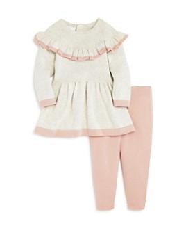 Bloomie's - Girls' Ruffled Sweater Dress & Leggings Set, Baby - 100% Exclusive