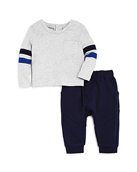 Bloomie's - Boys' Stripe-Sleeve Top & Jogger Pants Set, Baby - 100% Exclusive
