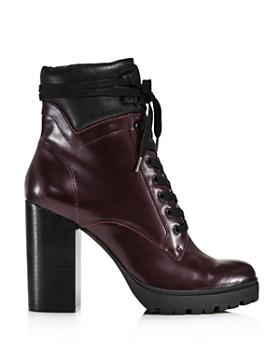 AQUA - Women's Laker Stacked Heel Hiker Boots - 100% Exclusive