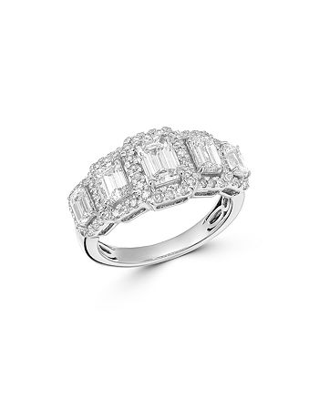 Bloomingdale's - Emerald-Cut Diamond 5-Stone Ring in 14K White Gold, 2.5 ct. t.w. - 100% Exclusive