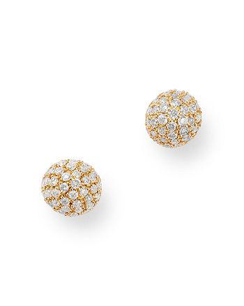 Bloomingdale's - Diamond Mini Ball Stud Earrings in 14K Yellow Gold, 0.40 ct. t.w. - 100% Exclusive