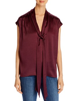 kate spade new york - Satin Tie-Neck Blouse
