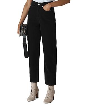 Whistles High-Rise Cropped Corduroy Pants-Women