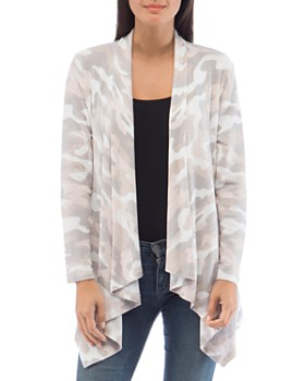 B Collection by Bobeau - Amie Camo Waterfall Cardigan