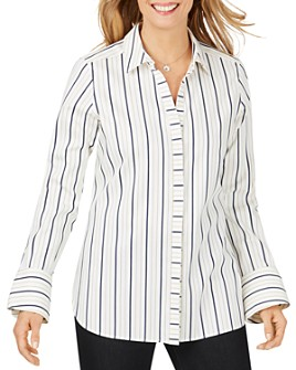 Foxcroft - Kyla Non-Iron Striped Shirt
