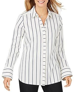 Foxcroft Kyla Non-Iron Striped Shirt-Women