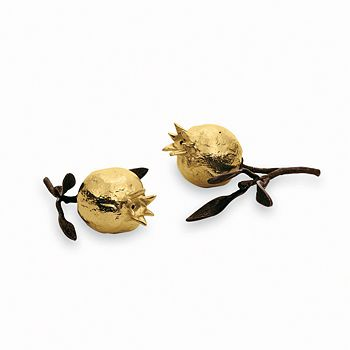 "Michael Aram - ""Pomegranate"" Salt & Pepper Shakers, Pair"