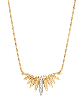 JOHN HARDY - 18K Yellow Gold Classic Chain Diamond Spear Pendant Necklace, 18""