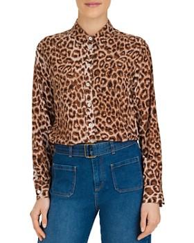 Gerard Darel - Maya Leopard-Print Silk Shirt