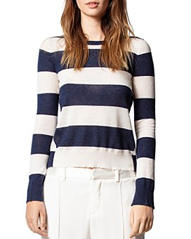 Zadig & Voltaire - Striped Cashmere Sweater