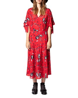 Zadig & Voltaire - Rap Daisy Printed Silk Midi Dress