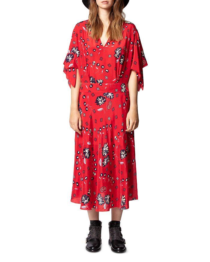 Zadig & Voltaire - Rap Daisy Printed Silk Midi Dress