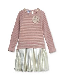 Pippa & Julie - Girls' Chenille Top & Pleated Metallic Dress Set - Baby