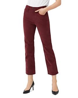 3x1 - Austin Crop Straight-Leg Corduroy Jeans in Crimson