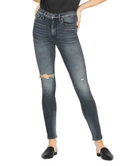 Hudson - Barbara High Rise Super Skinny Jeans in Out Of Sight