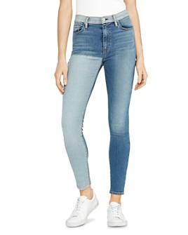 Hudson - Barbara Reverse Panel Jeans in Inverted Indigo