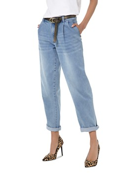 MICHAEL Michael Kors - MICHAEL Michael Kors Carrot High-Rise Cropped Straight-Leg Jeans in Angel Blue Wash
