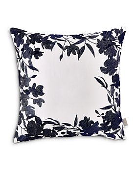 """Ted Baker - Floral Frame Decorative Pillow, 18"""" x 18"""""""