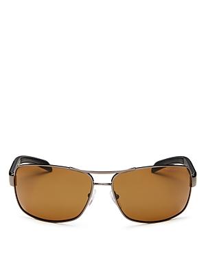 Prada Sunglasses MEN'S POLARIZED BROW BAR AVIATOR SUNGLASSES, 65MM