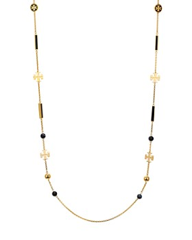"Tory Burch - Kira Rosary Necklace, 36"""