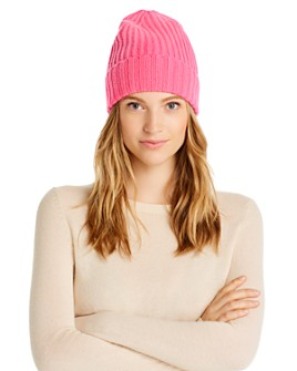 AQUA - Rib-Knit Cashmere Beanie - 100% Exclusive