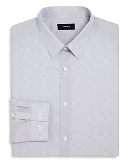 Theory - Cedrick Lattice Print Slim Fit Dress Shirt