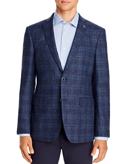 John Varvatos Star USA - Mélange Plaid Slim Fit Sport Coat