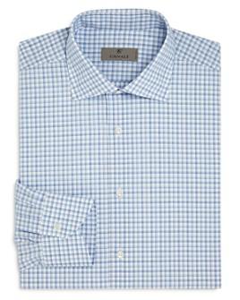 Canali - Bold Shadow Check Regular Fit Dress Shirt
