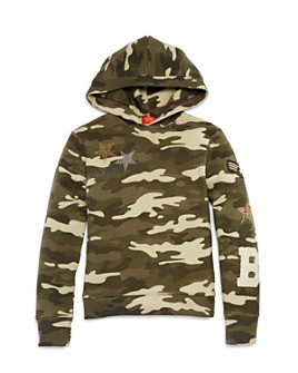 Butter - Girls' Camo Open-Back Hoodie - Little Kid, Big Kid