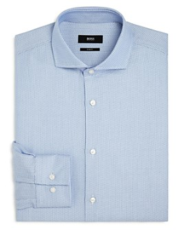 BOSS - Jason Micro Chevron Slim Fit Dress Shirt