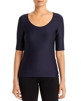 Armani - Short Sleeve Textured-Jersey Top