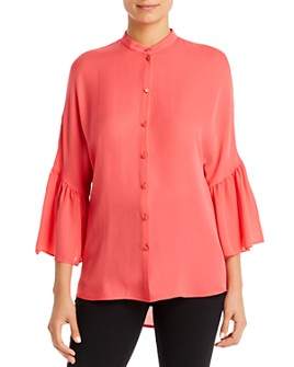 Armani - Silk Wide-Sleeve Blouse